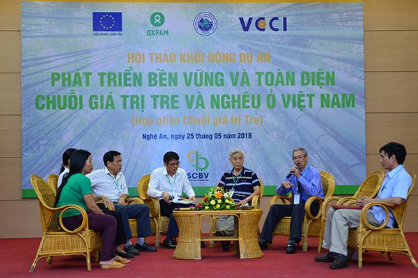 """Oxfam: Khởi động dự án """"Phát triển bền vững và toàn diện chuỗi giá trị nghêu và tre tại Việt Nam"""""""
