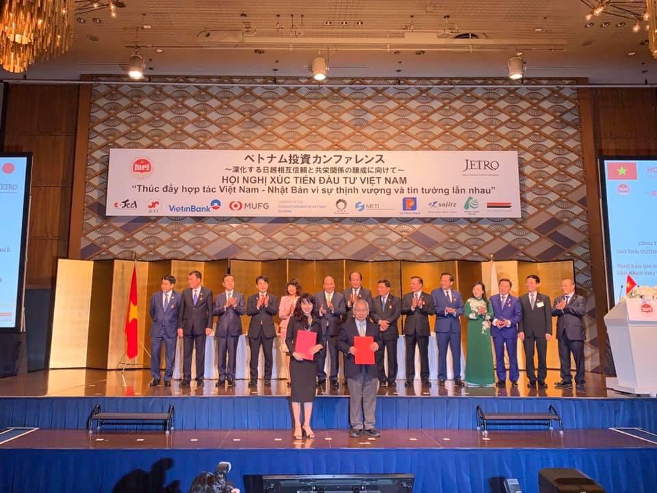 Công ty CP Đầu Tư Sao Thái Dương (SJF) ký kết MOU với Công ty Ecoparadise tại Hội nghị Xúc tiến đầu tư Việt Nam-Nhật Bản.